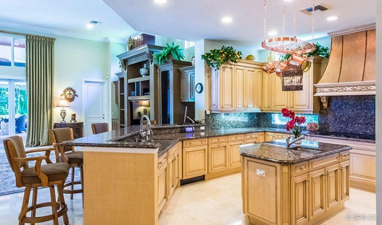 Gourmet Kitchen inside Luxury Estate Home, 16260 Bridlewood Circle, Delray Beach, Florida 33445