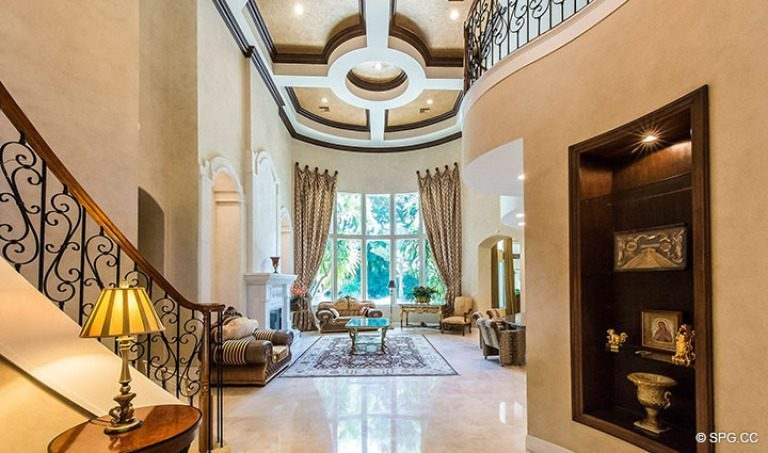 Entry Foyer into Luxury Estate Home, 16260 Bridlewood Circle, Delray Beach, Florida 33445