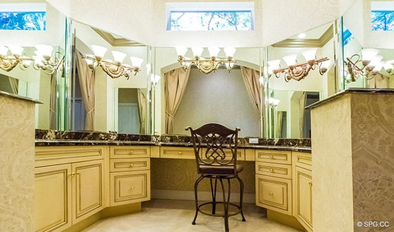 Master Bathroom in Luxury Estate Home, 16260 Bridlewood Circle, Delray Beach, Florida 33445