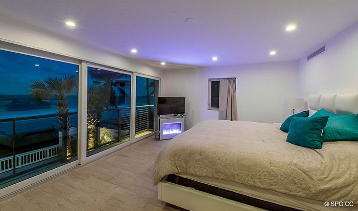 Evenings in Master Suite at Luxury Oceanfront Home, 2712 North Atlantic Boulevard, Fort Lauderdale, Florida 33308