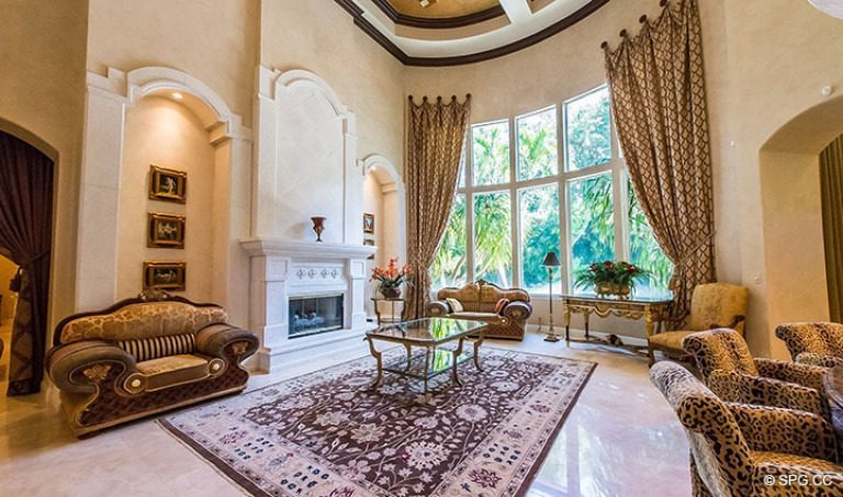 Grand Living Room in Luxury Estate Home, 16260 Bridlewood Circle, Delray Beach, Florida 33445