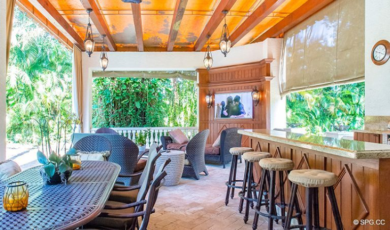 Backyard Cabana at Luxury Estate Home, 16260 Bridlewood Circle, Delray Beach, Florida 33445