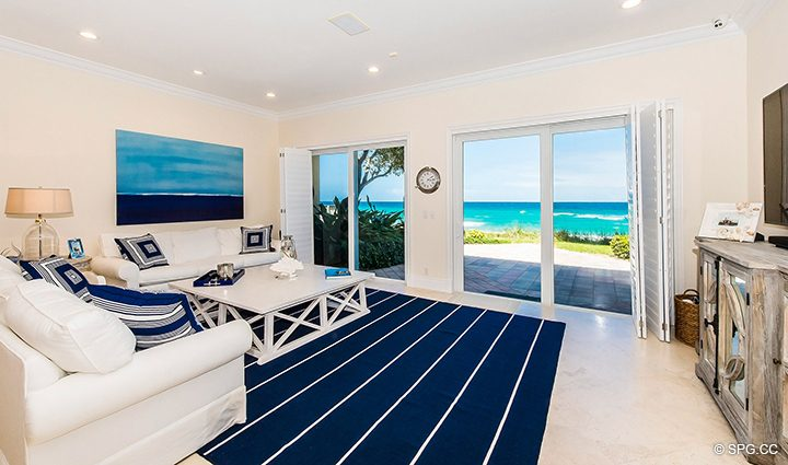 Direct Ocean Access from Residence 3A at 1153 Hillsboro Mile, a Luxury Oceanfront Townhome For Rent in Hillsboro Beach, Florida 33062