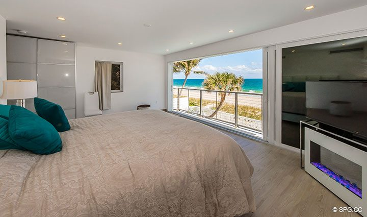 Master Bedroom Terrace Access in Luxury Oceanfront Home, 2712 North Atlantic Boulevard, Fort Lauderdale, Florida 33308