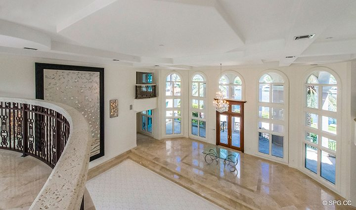 Second Floor Living Room View in Estate Home 709 Idlewyld Drive, Fort Lauderdale, Florida 33301