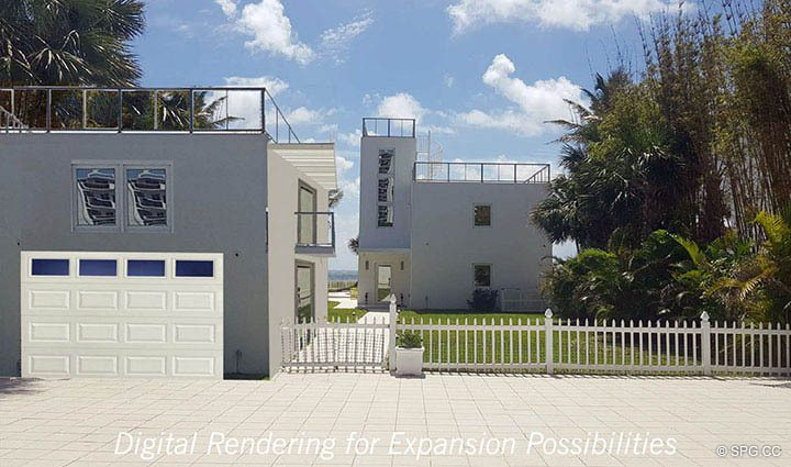 Digital Rendering for Expansion at Luxury Oceanfront Home, 2712 North Atlantic Boulevard, Fort Lauderdale, Florida 33308