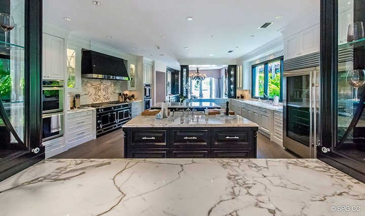 Expansive Gourmet Kitchen inside Estate Home 709 Idlewyld Drive, Fort Lauderdale, Florida 33301