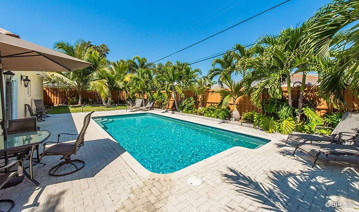 Backyard Pool at 1911 NE 56th Court, Fort Lauderdale, Florida 33308