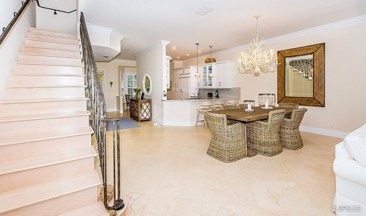 Stairway to Second Floor in Residence 3A at 1153 Hillsboro Mile, a Luxury Oceanfront Townhome For Rent in Hillsboro Beach, Florida 33062