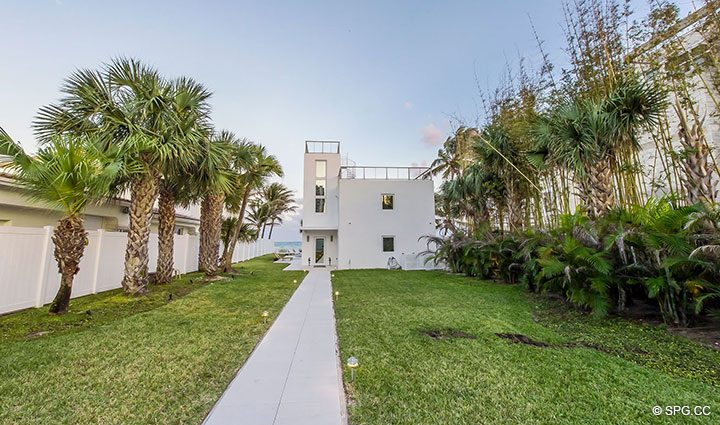 Walkup to Luxury Oceanfront Home, 2712 North Atlantic Boulevard, Fort Lauderdale, Florida 33308
