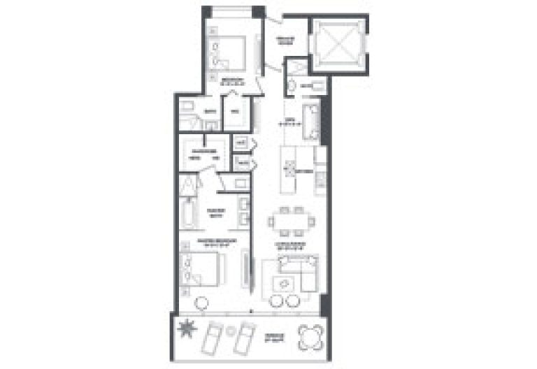 Click to View the Residence 2 Modified Floorplan