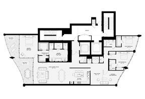 Click to View the Residence B, Tower One Floorplan