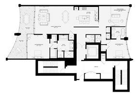 Click to View the Residence C, Tower One Floorplan