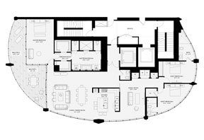 Click to View the Residence D, Tower One Floorplan