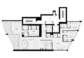 Click to View the Residence B, Tower Two Floorplan