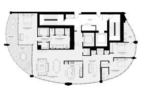 Click to View the Residence D, Tower Two Floorplan