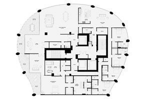 Click to View the Lower Penthouse A, Tower One Floorplan