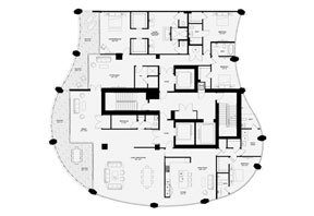 Click to View the Lower Penthouse B, Tower One Floorplan