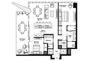Click to View the Bay Residence NW Floorplan.