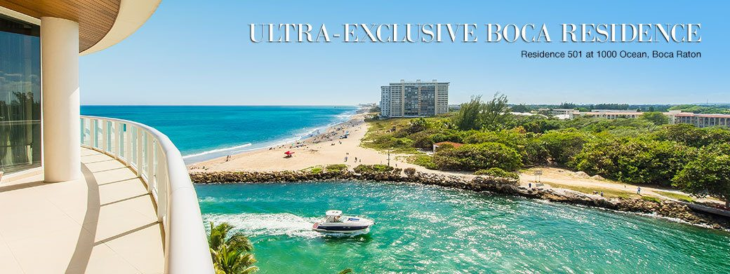 FEATURED RESIDENCE FOR SALE - LUXURY RESIDENCE 501 AT 1000 OCEAN IN BOCA RATON, FLORIDA