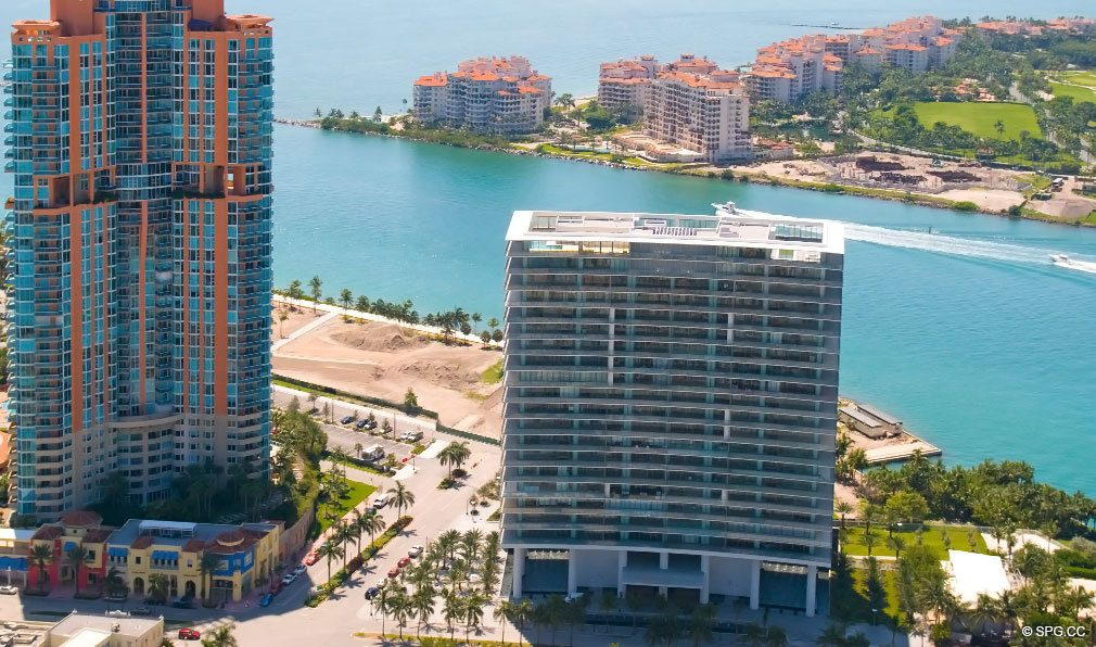 Water Views at Apogee South Beach, Luxury Waterfront Condominiums Located at 800 South Pointe Dr, Miami Beach, FL 33139