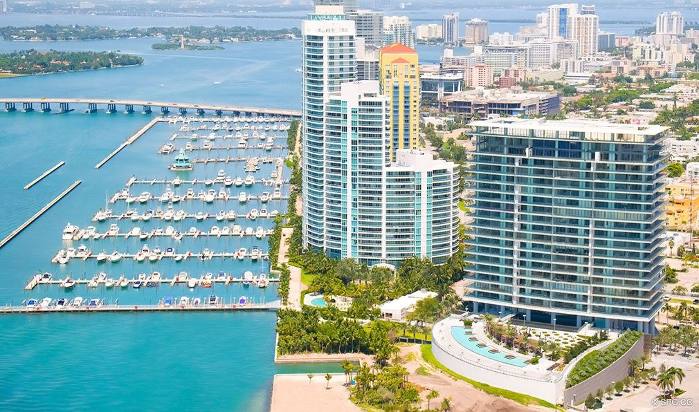Beautiful Views at Apogee South Beach, Luxury Waterfront Condominiums Located at 800 South Pointe Dr, Miami Beach, FL 33139