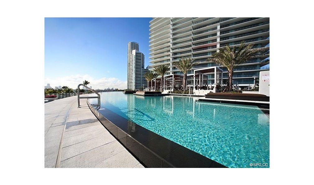 Pool at Apogee South Beach, Luxury Waterfront Condominiums Located at 800 South Pointe Dr, Miami Beach, FL 33139