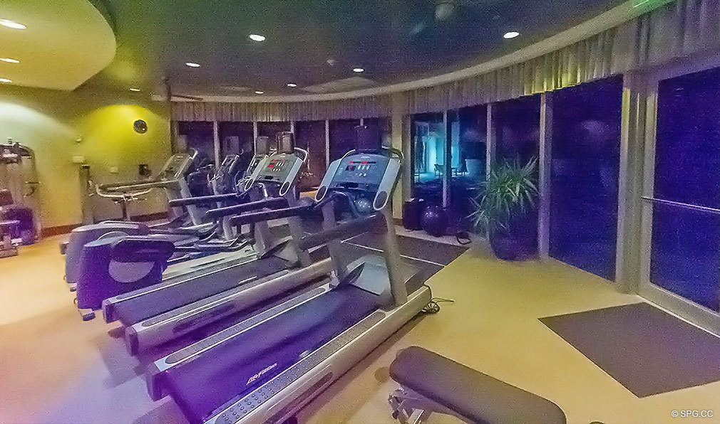 Fitness Center at Aquazul, Luxury Oceanfront Condominiums Located at 1600 South Ocean Boulevard, Lauderdale-by-the-Sea, FL 33062