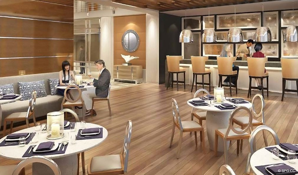 Dining at Chateau Beach Residences, Luxury Oceanfront Condominiums Located at 17475 Collins Ave, Sunny Isles Beach, FL 33160