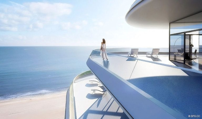 Terrace at Faena House, Luxury Oceanfront Condominiums Located at 3201 Collins Ave, Miami Beach, FL 33140