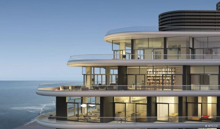 View of Faena House, Luxury Oceanfront Condominiums Located at 3201 Collins Ave, Miami Beach, FL 33140