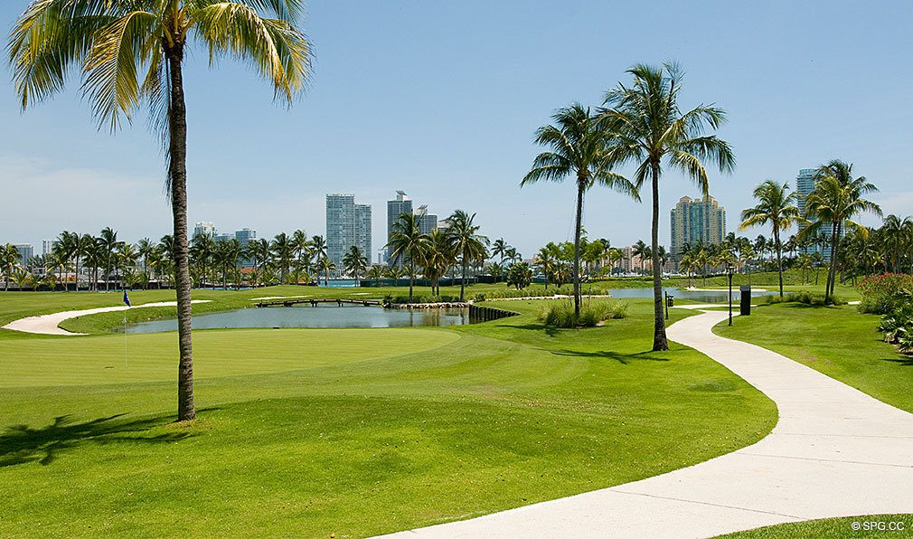 Golf Course at Fisher Island, Luxury Oceanfront Condos Located at One Fisher Island Dr, Fisher Island, FL, 33109