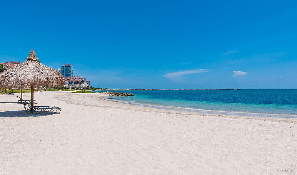 Private Beach at Fisher Island, Luxury Oceanfront Condos Located at One Fisher Island Dr, Fisher Island, FL 33109