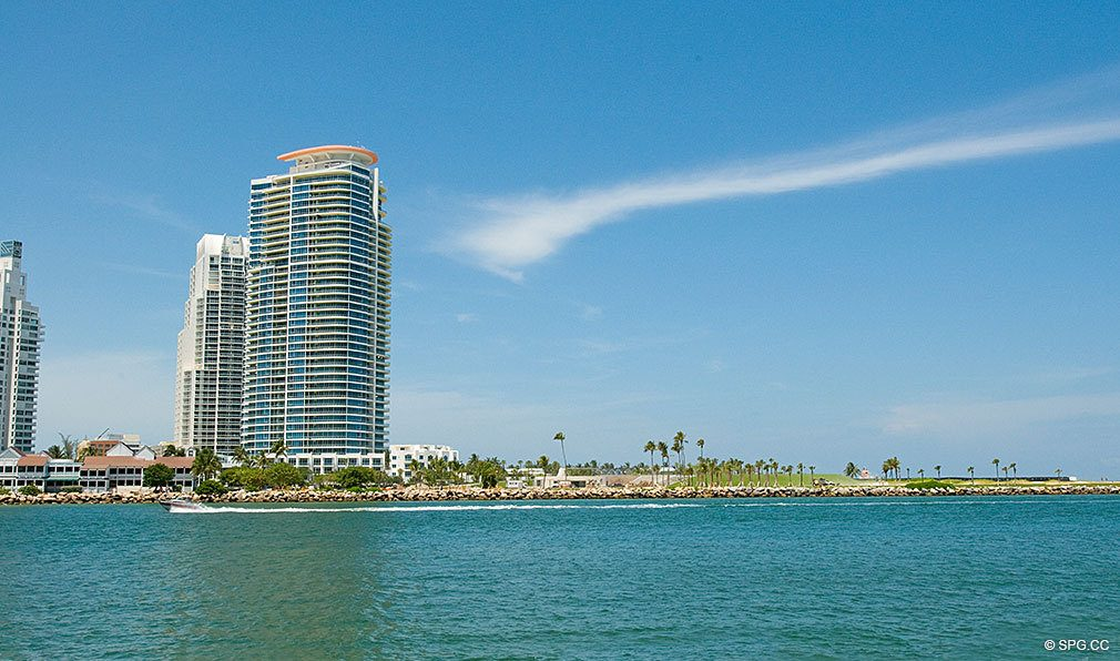 View of South Beach from Fisher Island, Luxury Oceanfront Condos Located at One Fisher Island Dr, Fisher Island, FL 33109