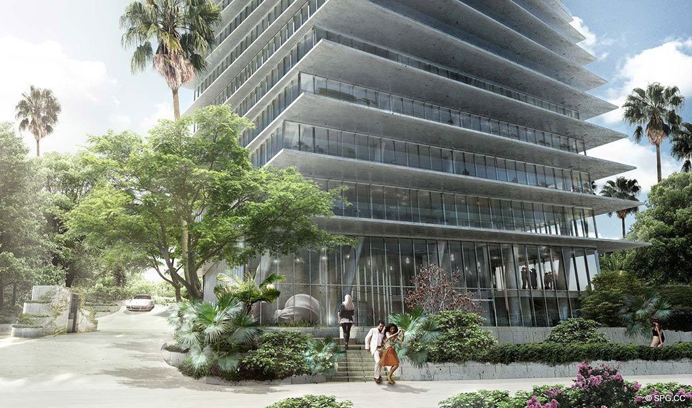 Grounds at Grove at Grand Bay, Luxury Waterfront Condominiums at 2669 South Bayshore Dr, Miami, FL 33133