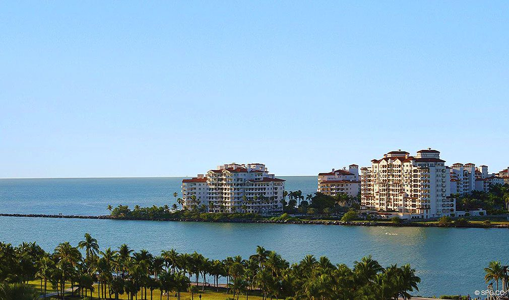 Fisher Island Views from Marea South Beach, Luxury Seaside Condominiums at 801 S Pointe Dr, Miami Beach, FL 33139