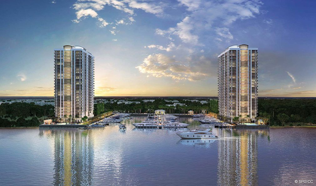 Marina Palms Yacht Club, Luxury Waterfront Condominiums Located at 17201 Biscayne Blvd, North Miami Beach, FL 33160