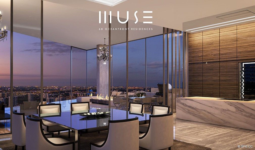 Living Areas at Muse, Luxury Oceanfront Condominiums Located at 17141 Collins Ave, Sunny Isles Beach, FL 33160