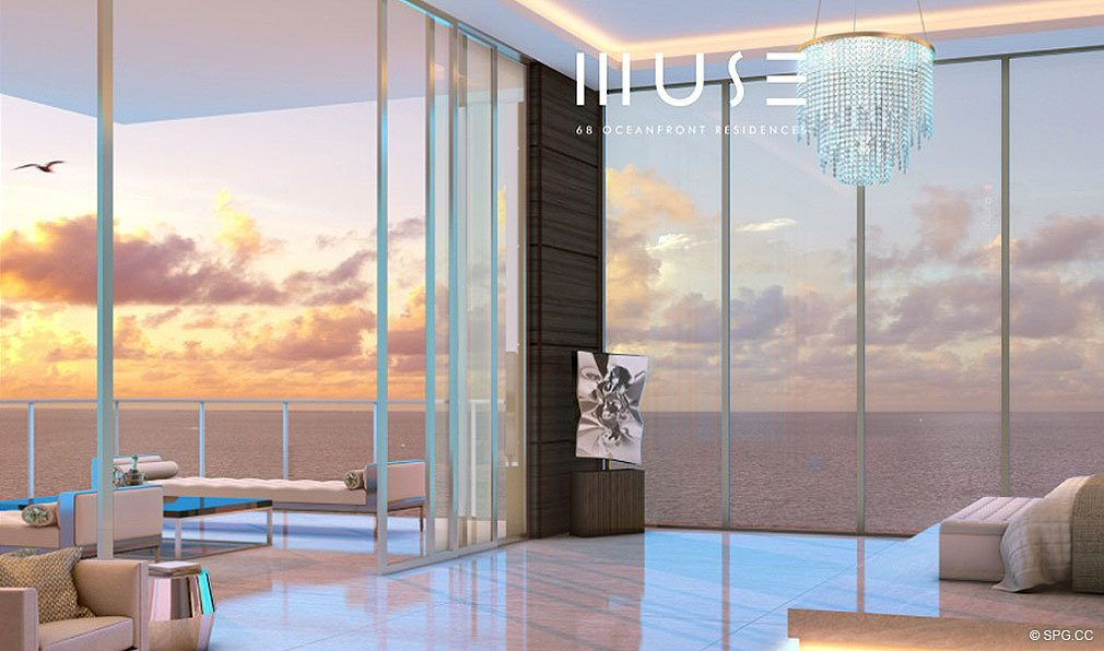 Ocean Views from Muse, Luxury Oceanfront Condominiums Located at 17141 Collins Ave, Sunny Isles Beach, FL 33160