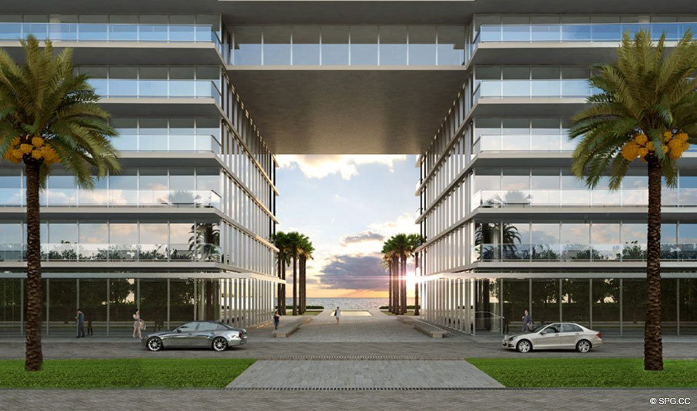 Entrance to Oceana Bal Harbour, Luxury Oceanfront Condominiums at 10201 Collins Ave, Bal Harbour, FL 33154