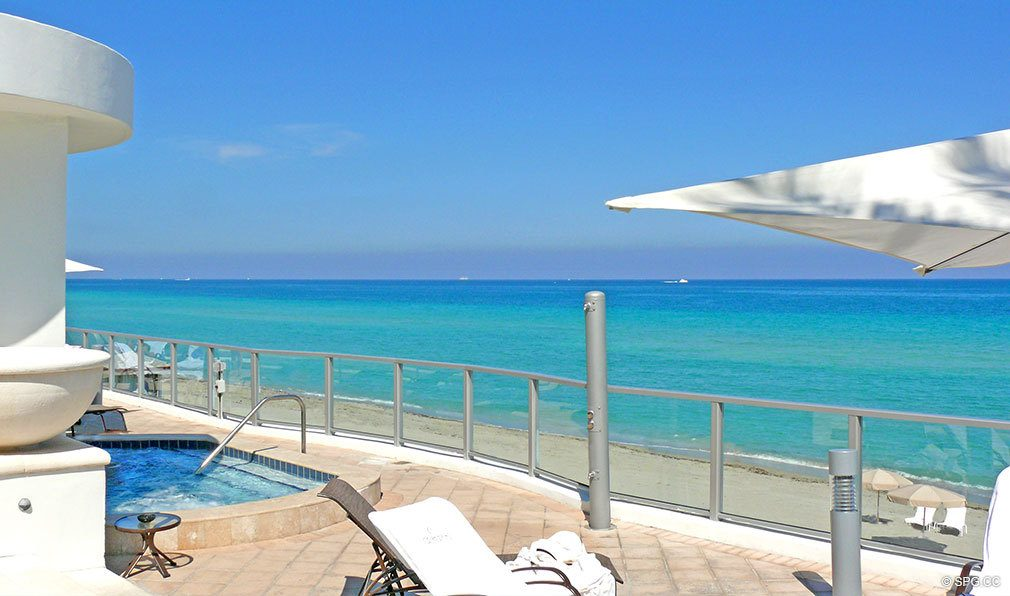 Ocean Views from Ocean Palms, Luxury Oceanfront Condominiums Located at 3101 S Ocean Dr, Hollywood Beach, FL 33019