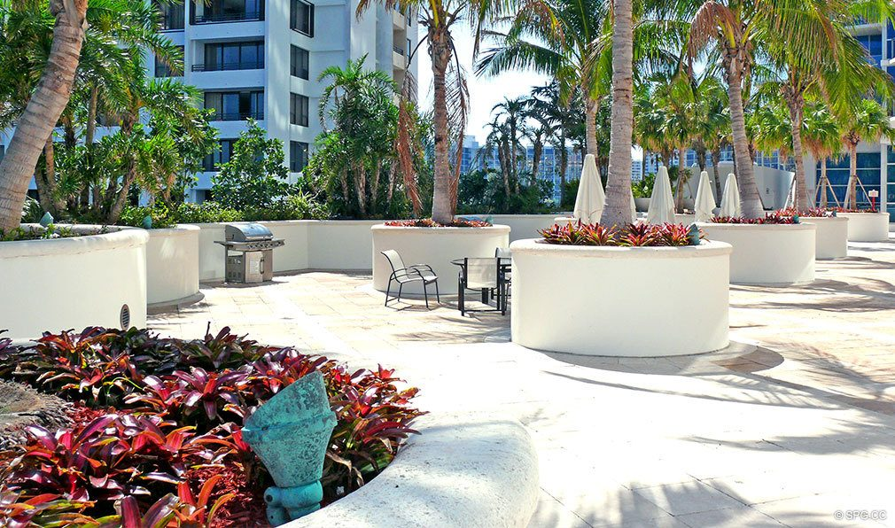 Courtyard at Ocean Palms, Luxury Oceanfront Condominiums Located at 3101 S Ocean Dr, Hollywood Beach, FL 33019