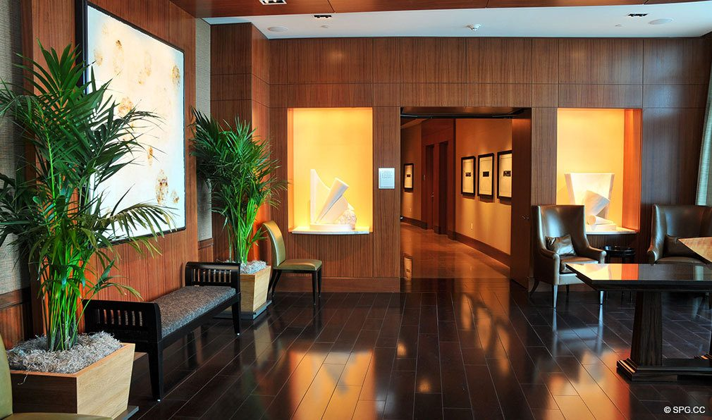 Lobby at One Bal Harbour, Luxury Oceanfront Condominiums Located at 10295 Collins Ave, Bal Harbour, FL 33154