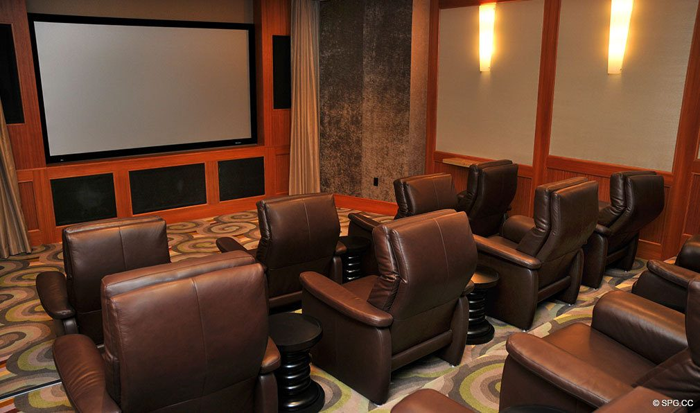 One Bal Harbour Screening Room, Luxury Oceanfront Condominiums Located at 10295 Collins Ave, Bal Harbour, FL 33154