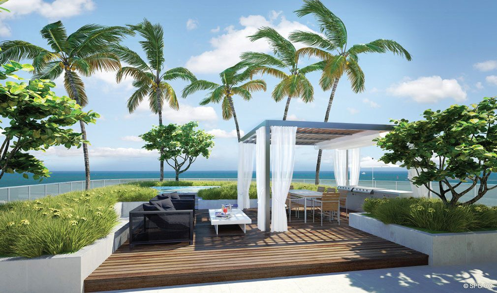 One Ocean Penthouse Terrace, Luxury Oceanfront Condominiums Located at 91 Collins Ave, Miami Beach, FL 33139