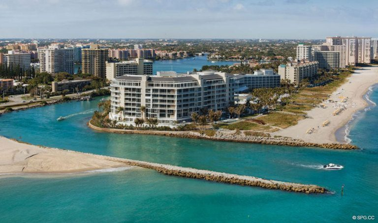 Surrounded by Water at One Thousand Ocean, Luxury Oceanfront Condominiums Located at 1000 S Ocean Blvd, Boca Raton, FL 33432