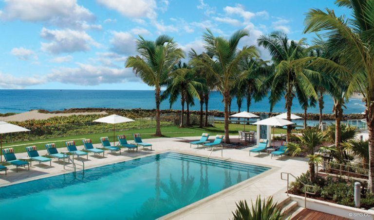 One Thousand Ocean Pool Deck, Luxury Oceanfront Condominiums Located at 1000 S Ocean Blvd, Boca Raton, FL 33432