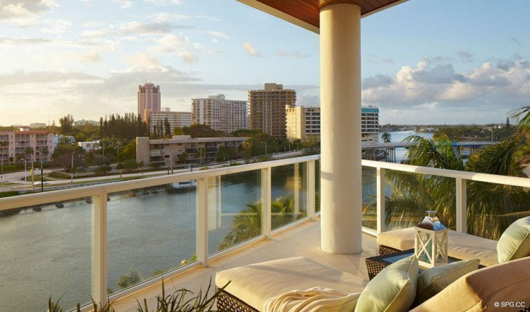 Balcony at One Thousand Ocean, Luxury Oceanfront Condominiums Located at 1000 S Ocean Blvd, Boca Raton, FL 33432