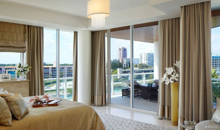 One Thousand Ocean Bedroom, Luxury Oceanfront Condominiums Located at 1000 S Ocean Blvd, Boca Raton, FL 33432