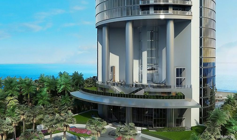 Porsche Design Tower Miami, Luxury Oceanfront Condominiums Located at 18555 Collins Ave, Sunny Isles Beach, FL 33160